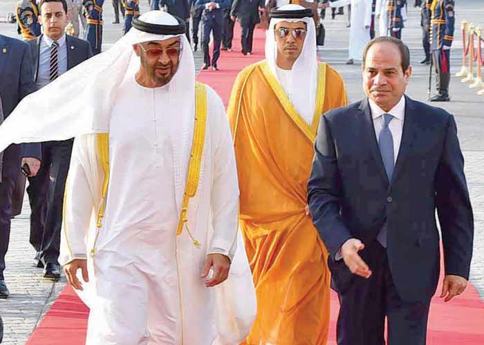 Sisi Heads to UAE to Discuss Palestinian Reconciliation, Crisis with Qatar