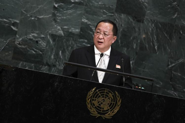 N.Korean FM at UN Says Confrontation with US 'Inevitable'