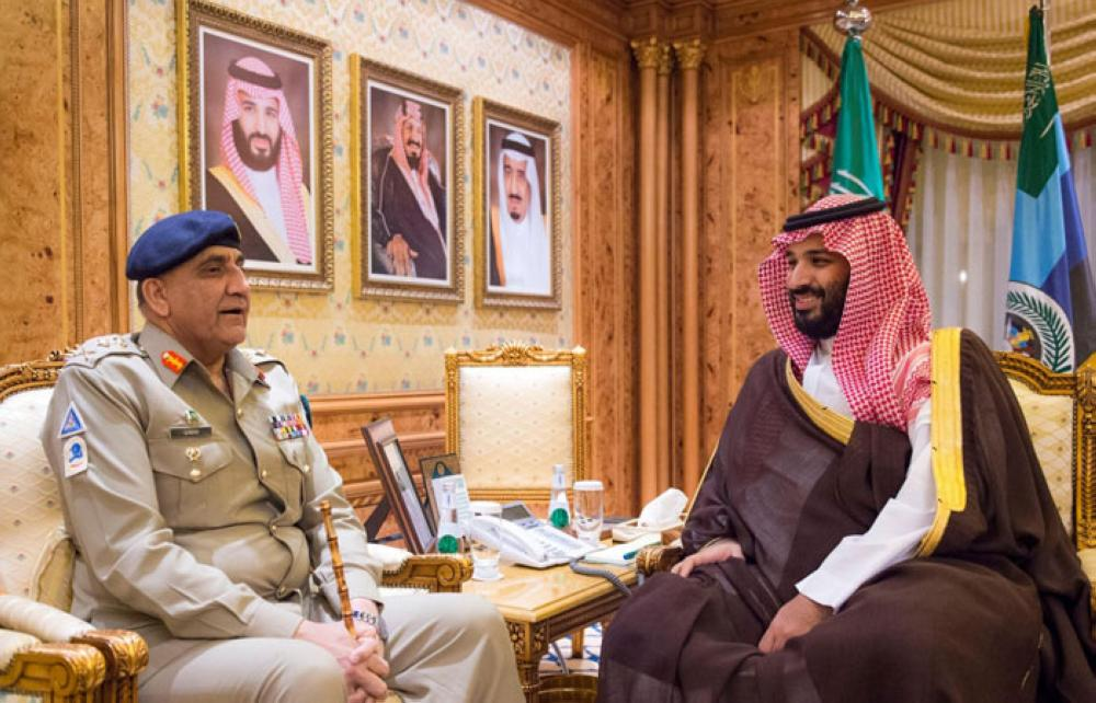 Saudi Crown Prince Discusses Military Cooperation with Commander of Pakistani Army