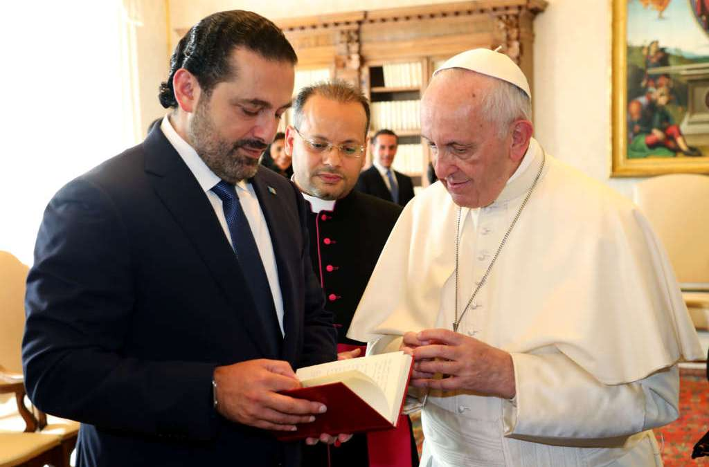Hariri, Pope Discuss Syrian Crisis and Burden of Refugees