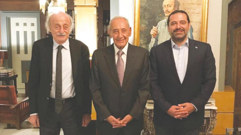 Hariri-Berri-Jumblatt Meeting Highlights Conciliatory Slogans, Paves the Way for Electoral Alliances