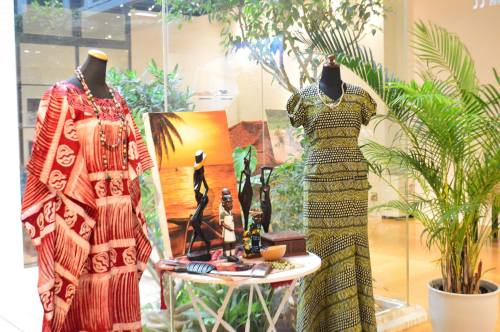 Display of goods from West Africa