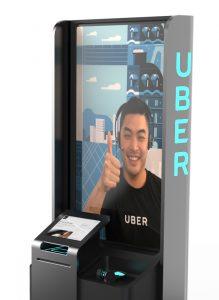 Uber kiosk