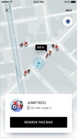 The Uber bike app