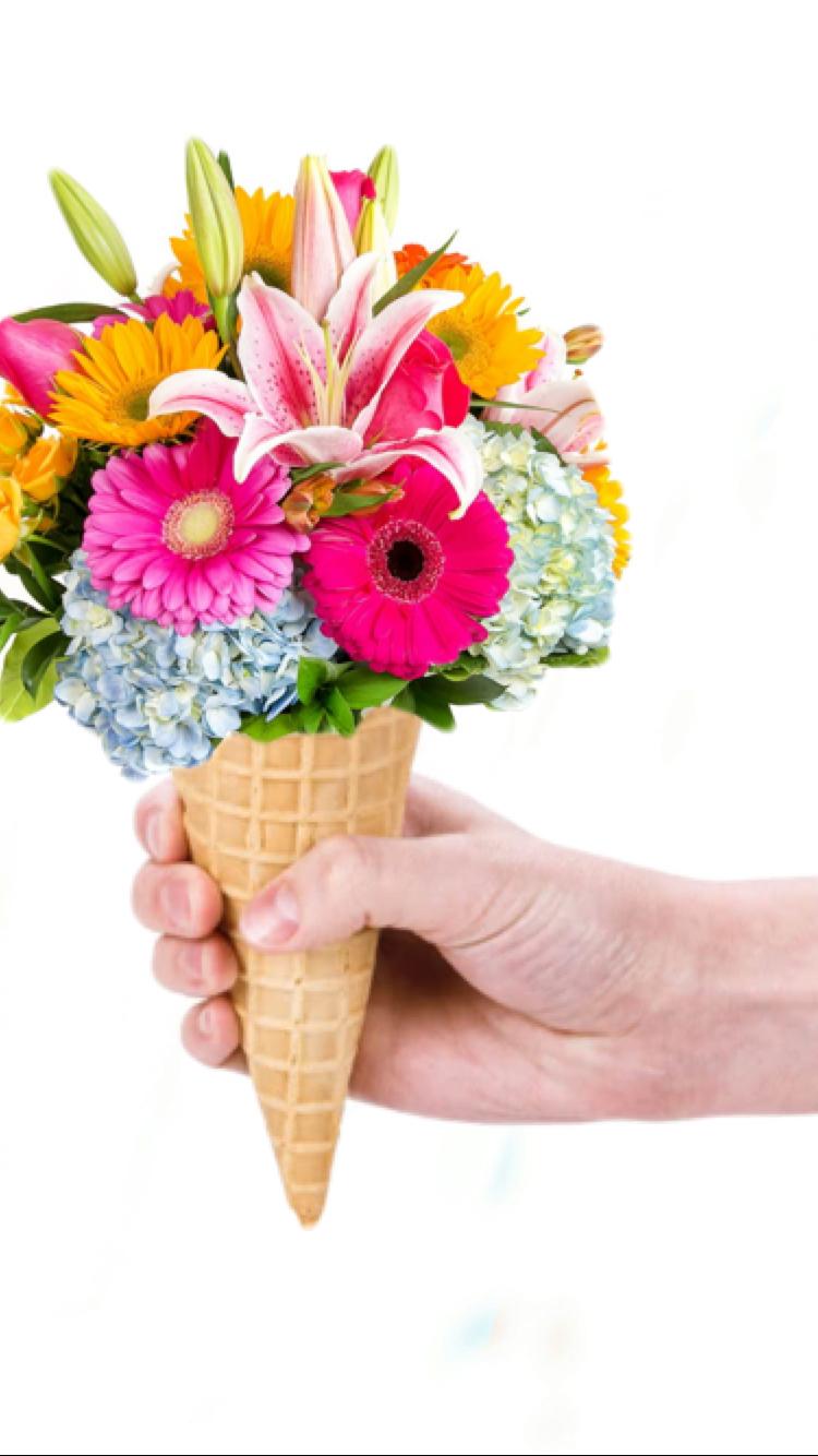 flowers + ice cream