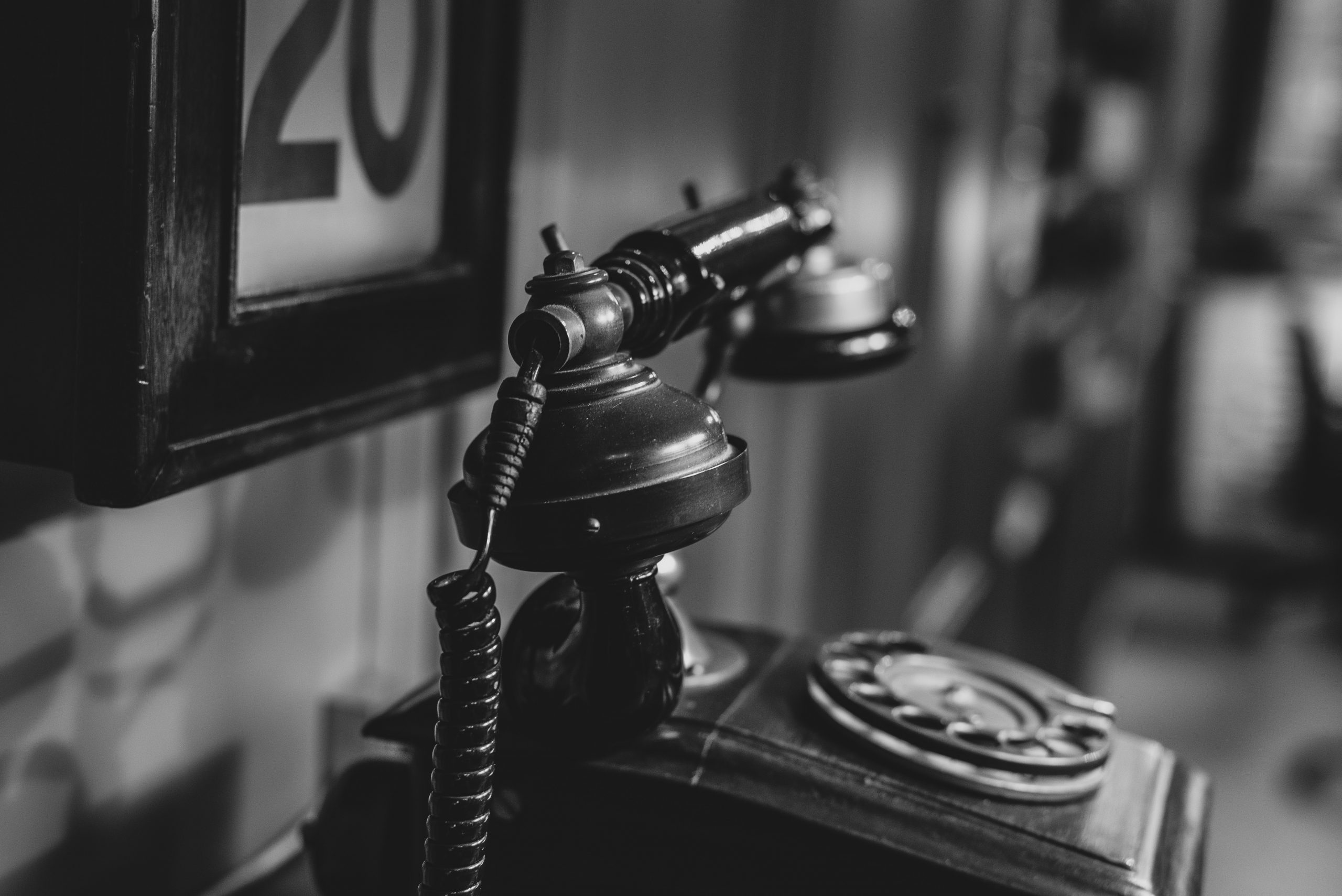 dusty old telephone, waiting in the shadows to again be relevant