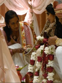 Rose Garlands Exchanged in Ceremony