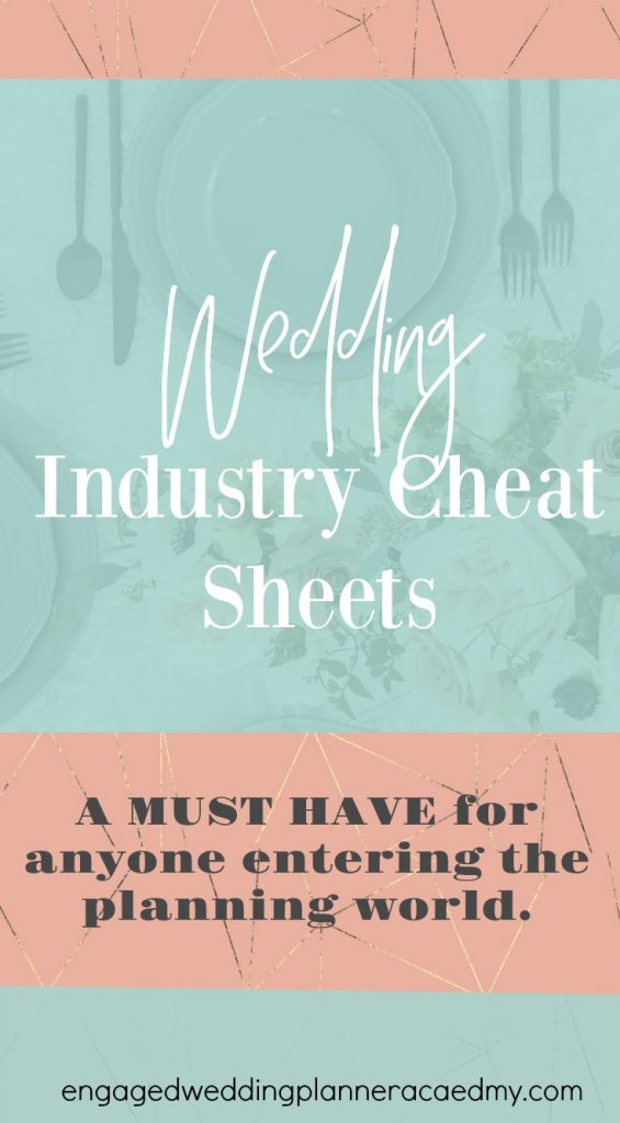 This package of wedding industry cheat sheets is a MUST HAVE for anyone entering the planning world. A tool every new wedding planner needs. Vendor tipping, becoming a wedding planner, Cake Size, how much wedding alcohol to buy, linen sizing chart, new wedding planner, Table Setting Diagram, Wedding industry cheat sheets, wedding planner workshop, Wedding Planning Business, Wedding Planning Courses, Wedding Planning Pocketbook
