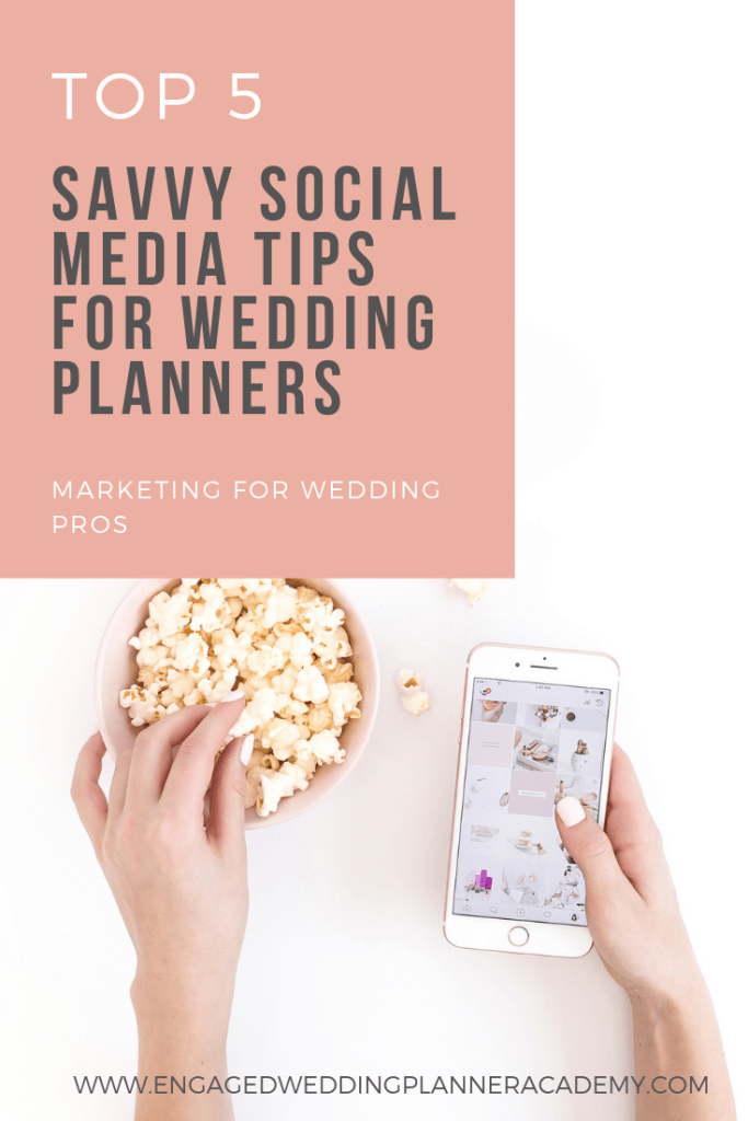 In this post, Angie of Virtual Angie, shares her Top 5 Social Media Tips for Wedding Planners. Learn the basics in getting your wedding business out there. | How to Start a Wedding Planning Business, Scheduling Facebook Posts, social media for wedding planners, Social Media Marketing, Social Media Tips for Wedding Planners, tailwind, wedding planner business, wedding planner business tips, Wedding Planner Career, wedding planner education, wedding planner marketing