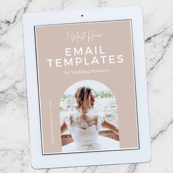 3 Free Must-Have Email Templates For Wedding Planners