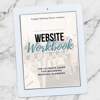 Wedding Planner Website Workbook