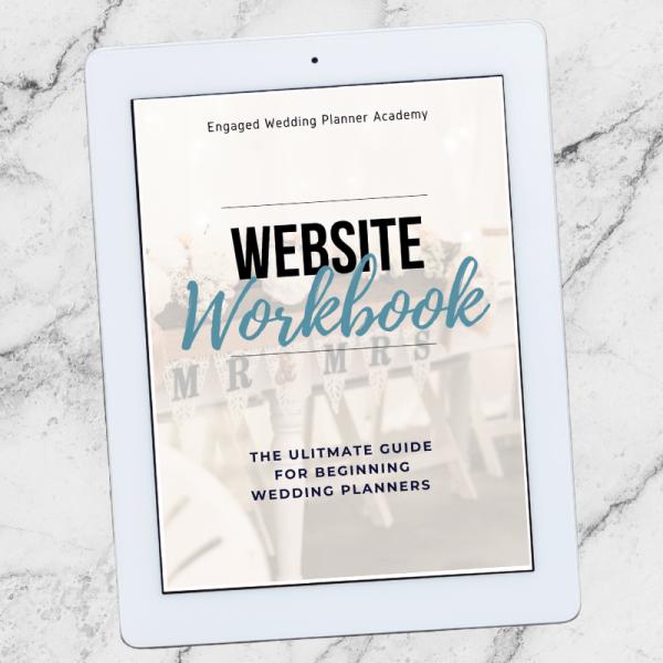 Wedding Planner Website Workbook