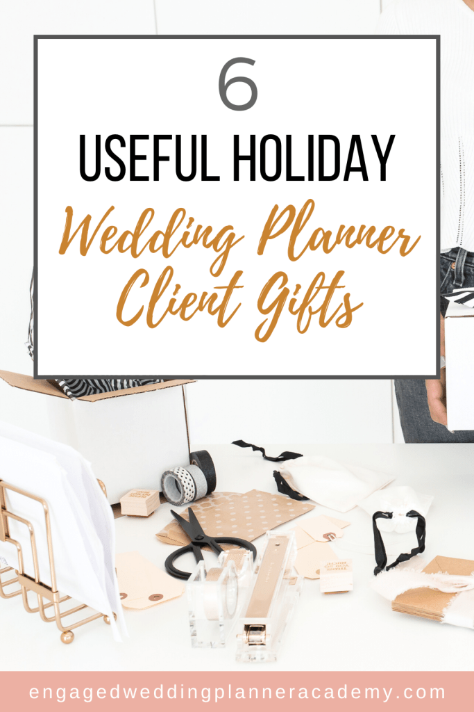 It is the little things that set you apart from the others in your field. Here are my top 6 most useful wedding planner client gifts. | appropriate wedding gift for client, become a wedding planner tips, best client gifts for photographers, how to become a wedding planner, memorable client gifts, Simplified Planner, Wedding Business, wedding client gifts, wedding planner business, wedding planner education, Wedding Planner Gift Ideas, Wedding Planner products, wedding planner tools