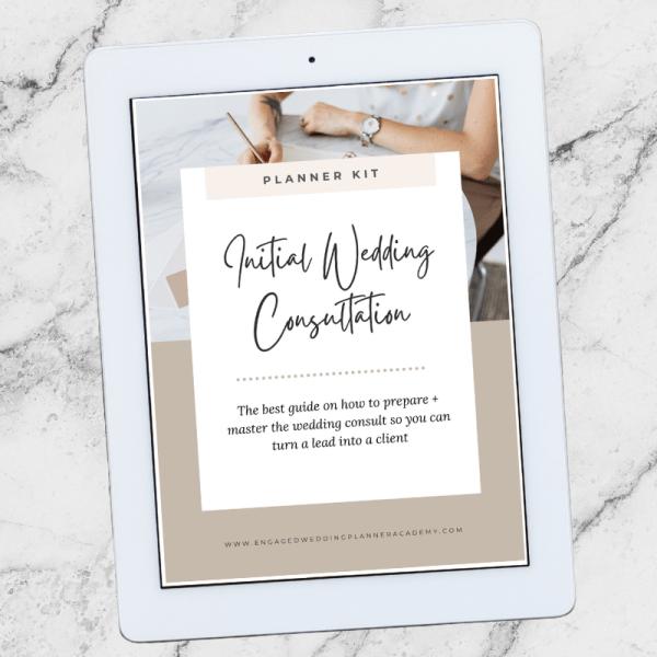 Initial Wedding Consultation Planner Kit