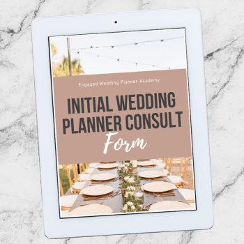 Wedding Planner Consult Form