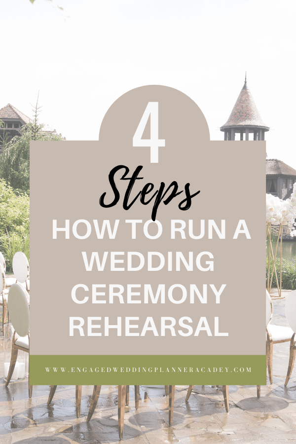If you're a new wedding planner, here's everything you need to know on how to run a wedding ceremony rehearsal in four simple steps. | how to do a wedding ceremony rehearsal, How to Run a Wedding Ceremony Rehearsal, wedding ceremony rehearsal template, wedding rehearsal and ceremony, wedding rehearsal checklist, wedding rehearsal guide