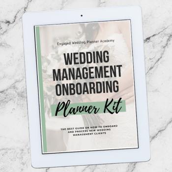 Wedding Management Onboarding Planner Kit