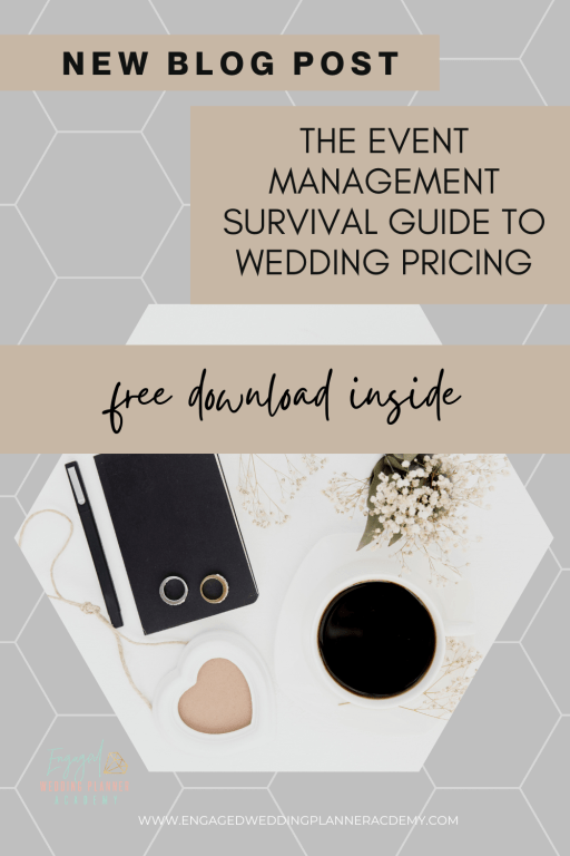 Here's the 411 on event management wedding pricing. Inside this post you'll get ahead of the game with info you can start using now.  | Event Management, event planning guide, pricing guide, Pricing services, wedding planner checklist, wedding planner how to charge, wedding planner pricing, wedding planner pricing template, wedding planning packages and prices, Wedding Pricing