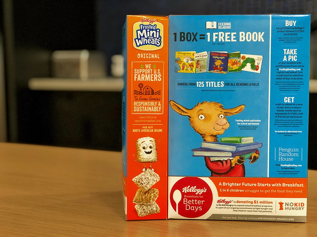 More than 90 percent of Kellogg's® U.S. cereal packages and Kellogg's Nutri-Grain® bars feature social impact campaigns that are creating Better Days for U.S. farmers, kids in feeding programs and families.