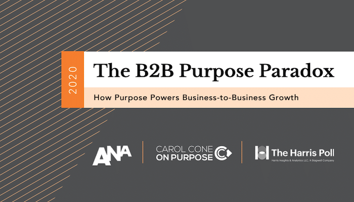 B2B Purpose Paradox