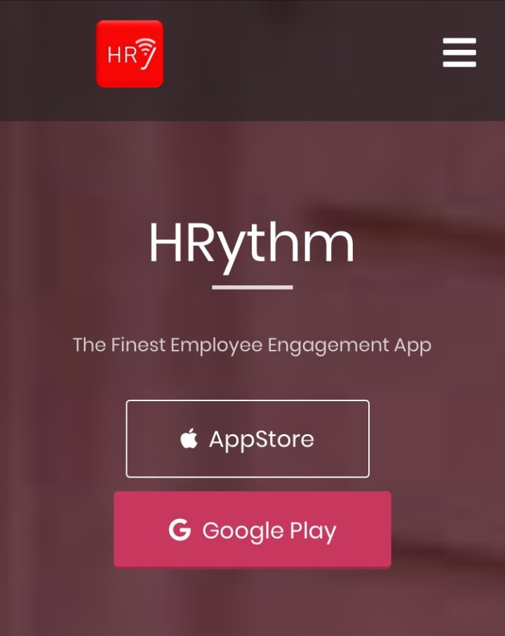 The HRythm App Website Home Page