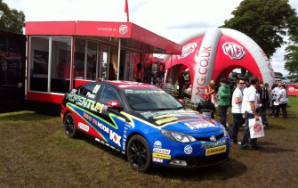 The MG stand proving to be rather low rent.