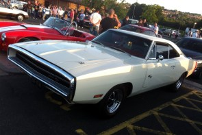 1970 Dodge Charger R/T. Certainly one of my top five muscle cars, along with one of my other half's judging by her reaction!