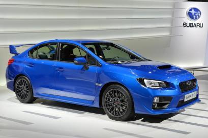 Subaru's WRX STI in WR Blue