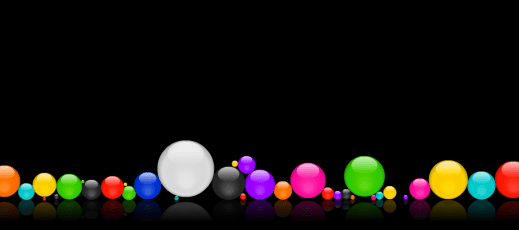 Bouncy Balls respond to mouse clicks or noise