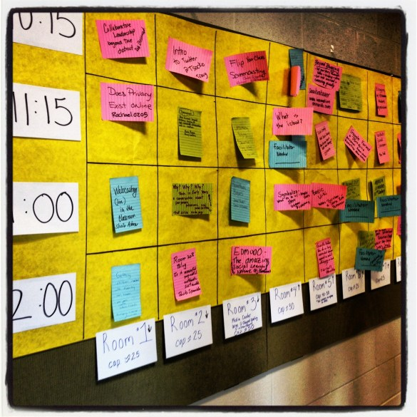 Example of an EdCamp Schedule from Innovation on Earth