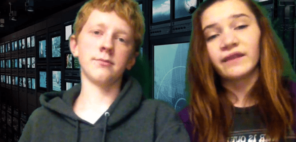 Two students present their TouchCast on 5 Strange Animals