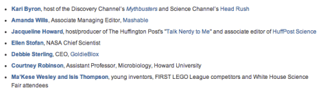 """Guests who recently appeared on """"Women Role Models"""" in We the Geeks series"""