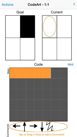 screen shot from CodeArt app