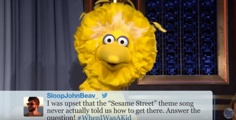 screen shot from Sesame Street Hashtags