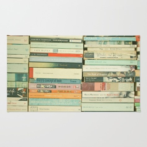 Bookworm Rug by Cassia Beck on Society 6