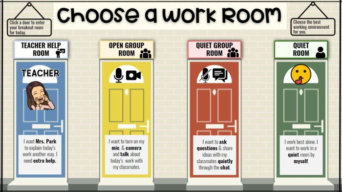 google meet work room