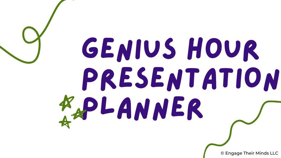 Genius Hour Presentation Planner