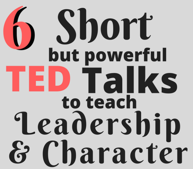 Love these quick (and funny!) talks to inspire leadership and teach character with my high school students! Perfect to fill an extra 15 minutes or all together as a mini character-building unit.