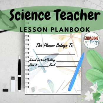 Image of Cover page of science teacher planner.