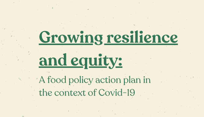 Growing resilience and equity: A food policy action plan in the context of Covid-19