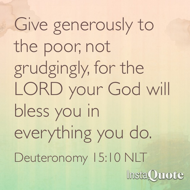 Give Generously to the Poor