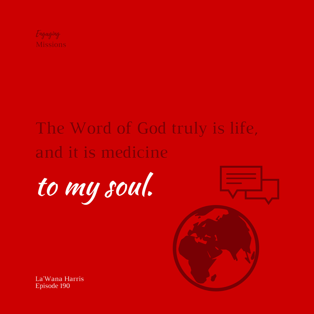 the word of god truly is life and it is medicine to my soul