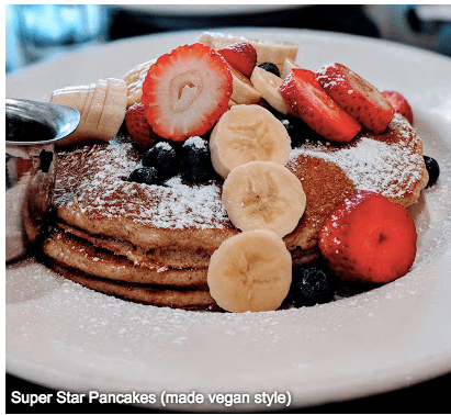 vegan pancakes light and fruity