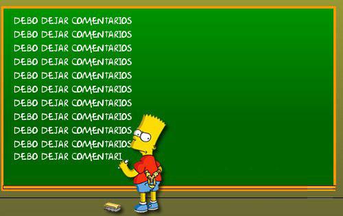 Bart Simpson te aconseja dejar comentarios