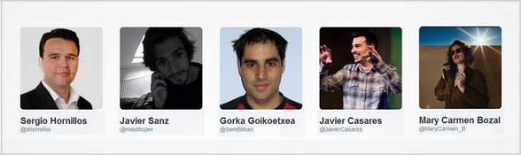 Los cinco ponentes de microcharlas