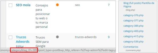 Cómo personalizar categorias de WordPress