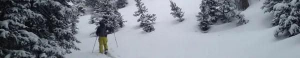 Skiing Jones Pass, Colorado.
