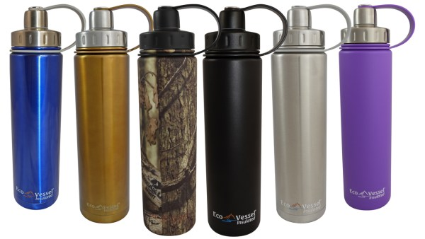 Eco Vessel Boulder Trimax insulated water bottle
