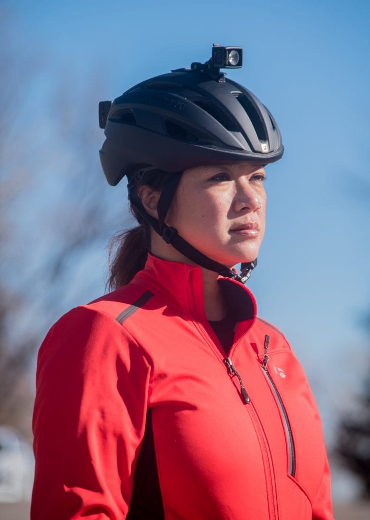 Bontrager Velocis S2 softshell jacket and Circuit helmet