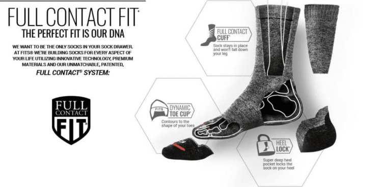 FITS Socks Full Contact Fit